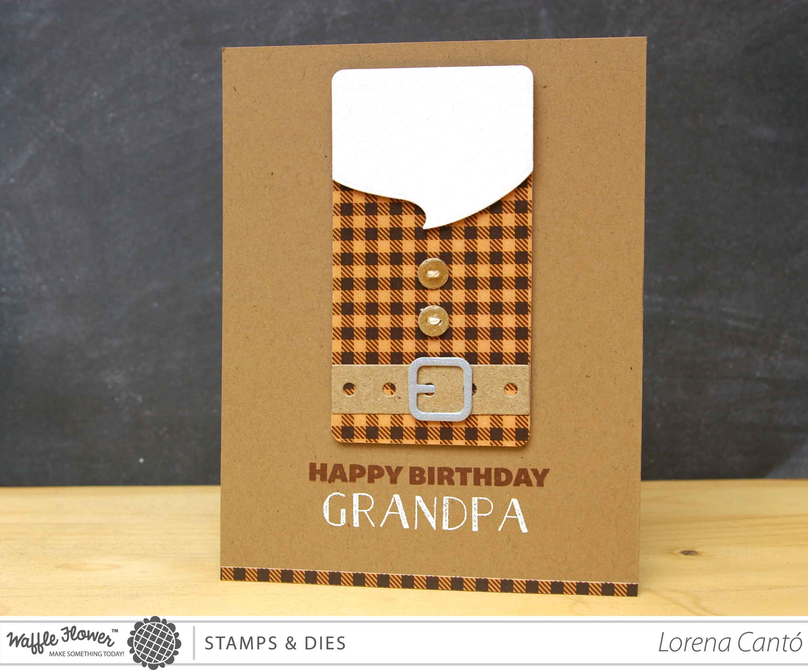 Grandpa birthday card with waffle flower crafts and a winner grandpa1 grandad birthday card bookmarktalkfo Gallery