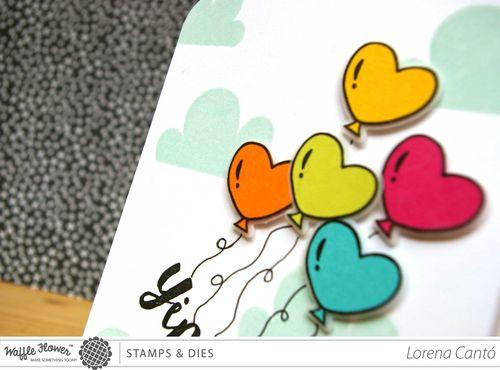 Balloons card 4
