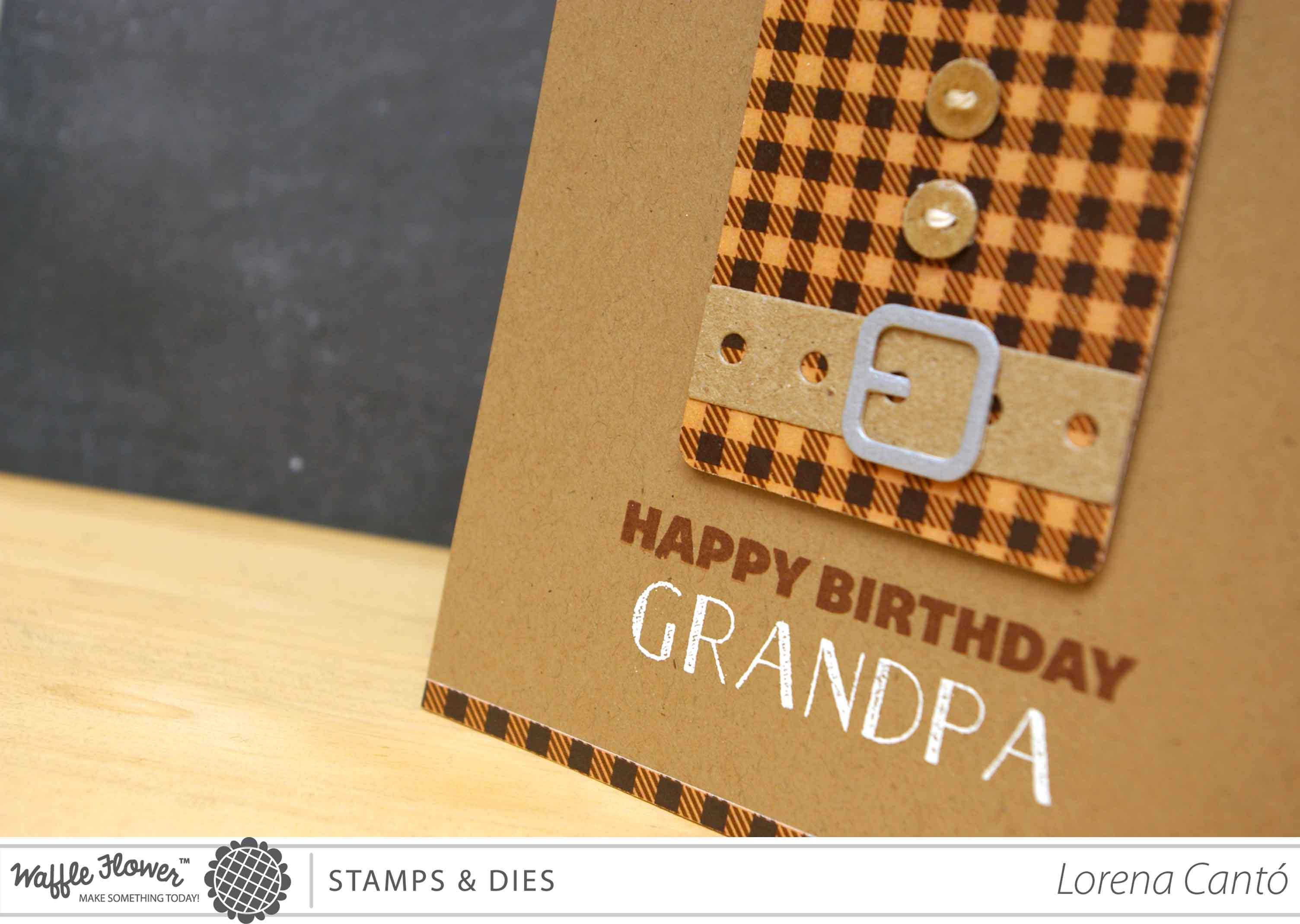 Grandpa birthday card with waffle flower crafts and a winner grandpa 2 bookmarktalkfo Gallery